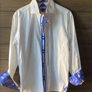 Men's shirt bespoke 100% cotton size xl